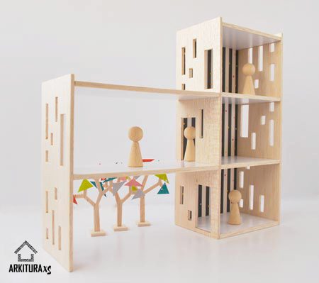 Casa de muñecas moderna.