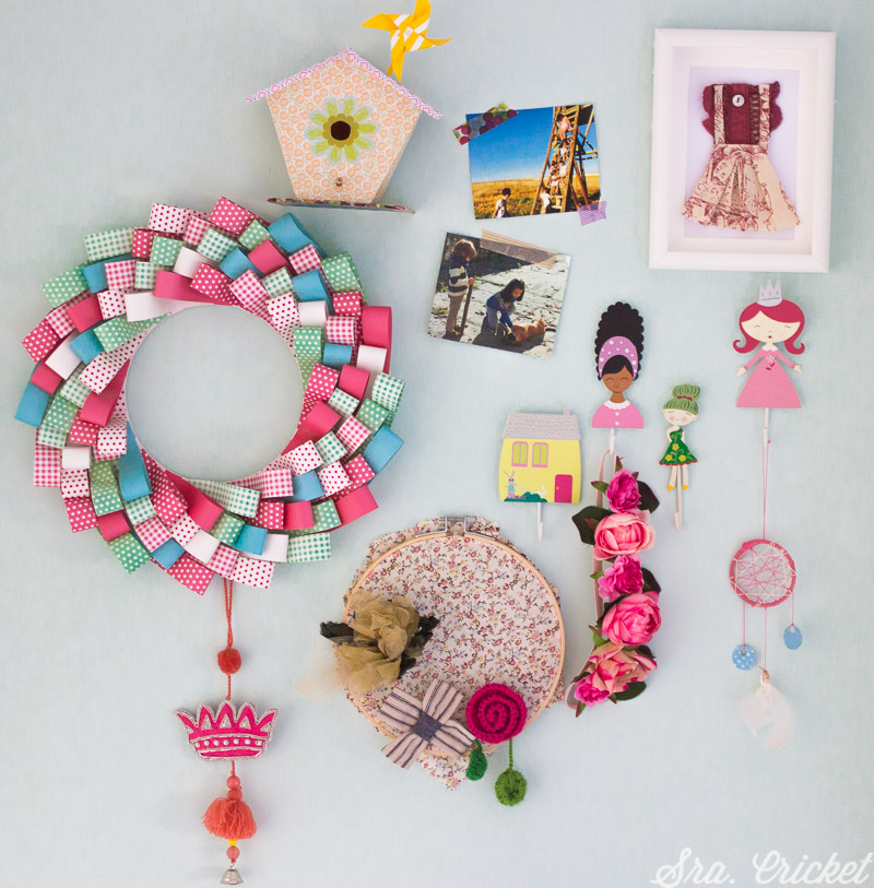 corona de papel en tiras