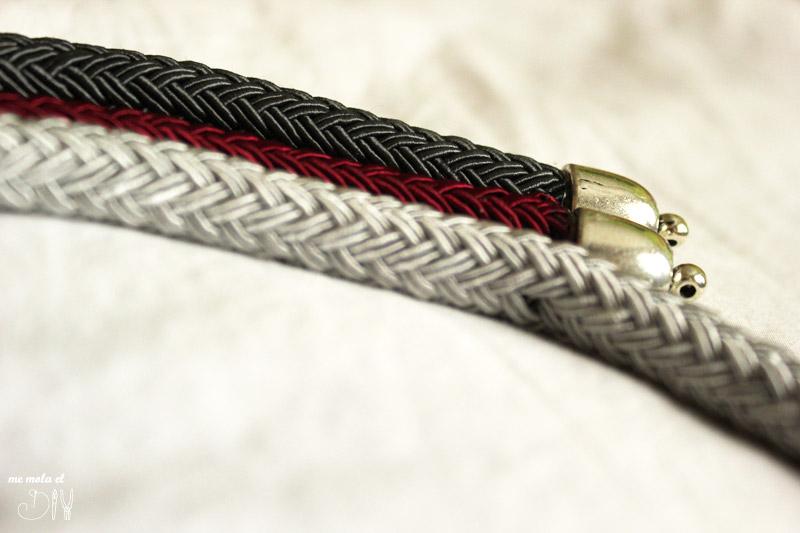 collares de cordon puntada para unirlos