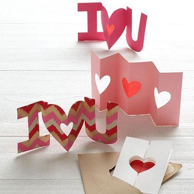 Tarjeta de San Valentín de cartulina