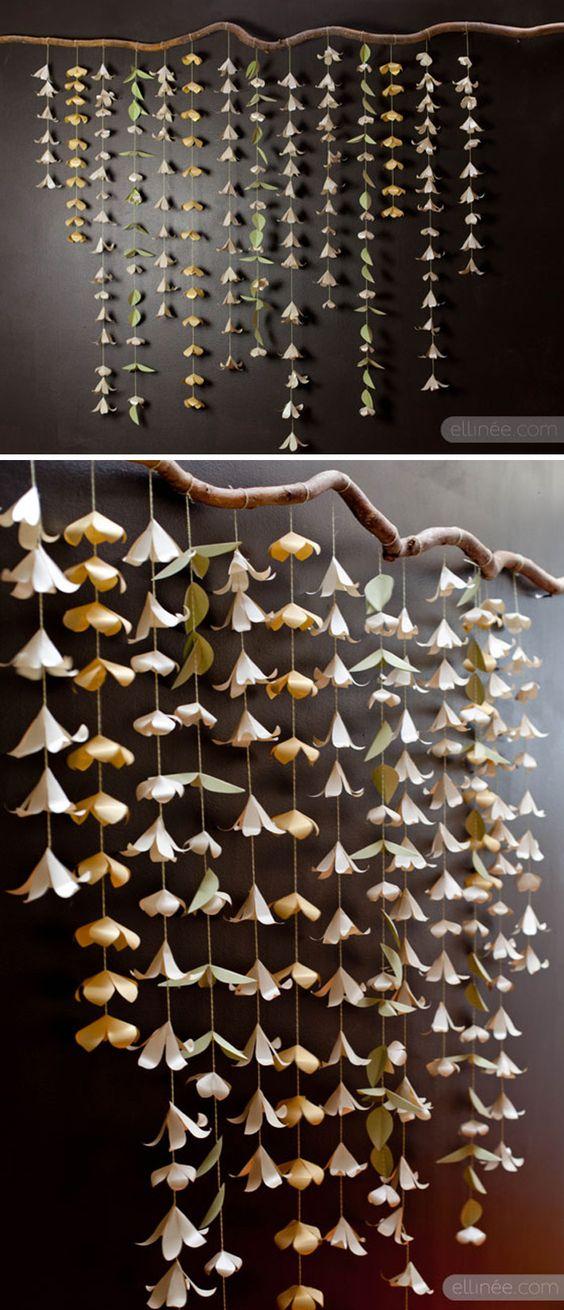DIY Paper Flower Backdrop Garland: