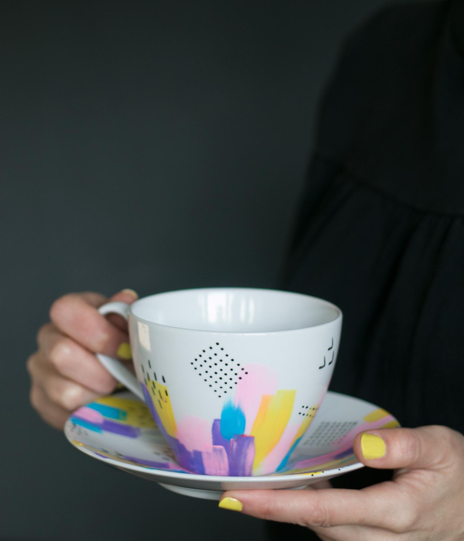 Taza personalizada con colores
