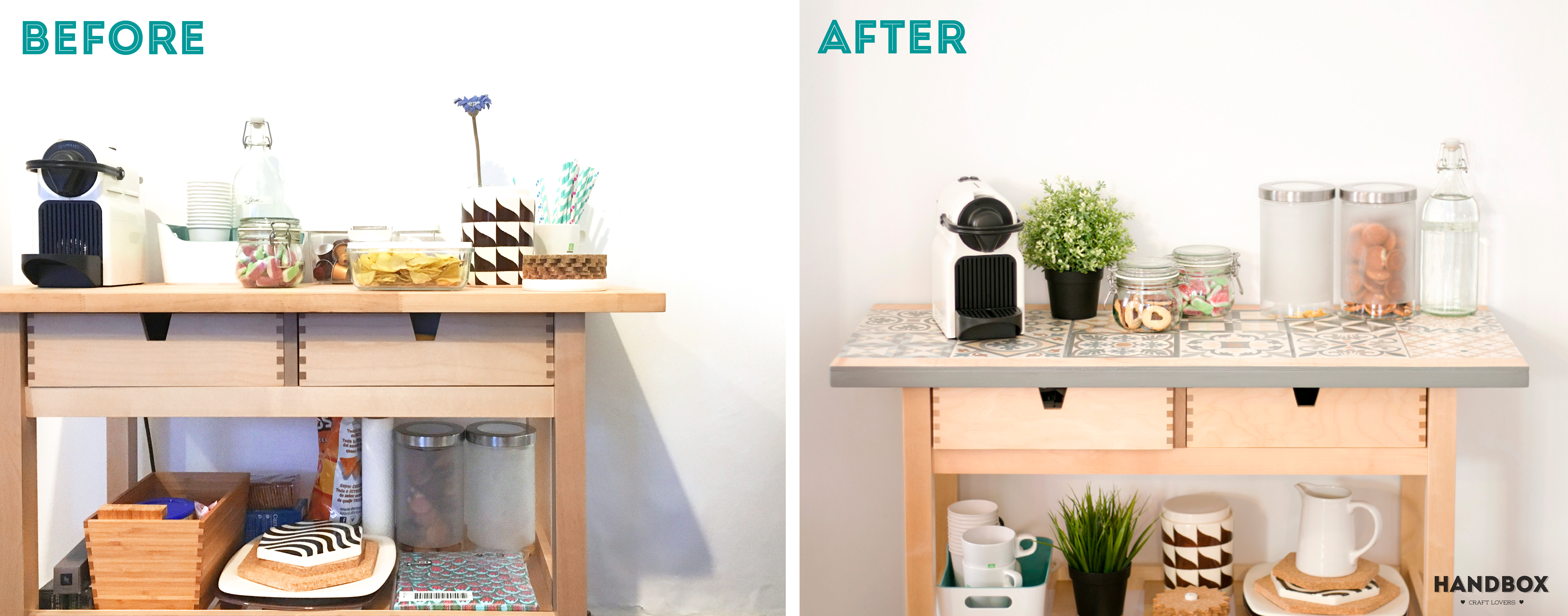 before after camarera ikea