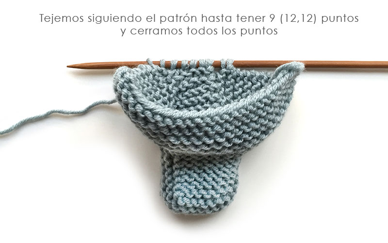 Patucos de punto sencillos – Tutorial y patrón - Handbox Craft ...
