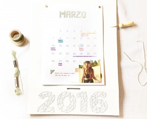calendario bordado 2016