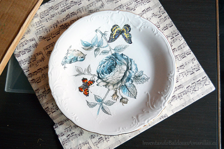 decorar platos papel