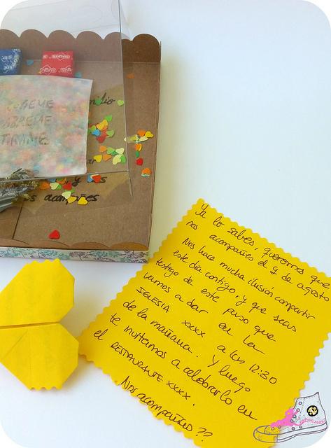 invitación de boda origami