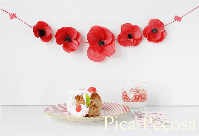 Diy Como Hacer Flores Con Papel De Seda Handbox Craft Lovers - Como-hacer-guirnaldas-de-papel-de-seda