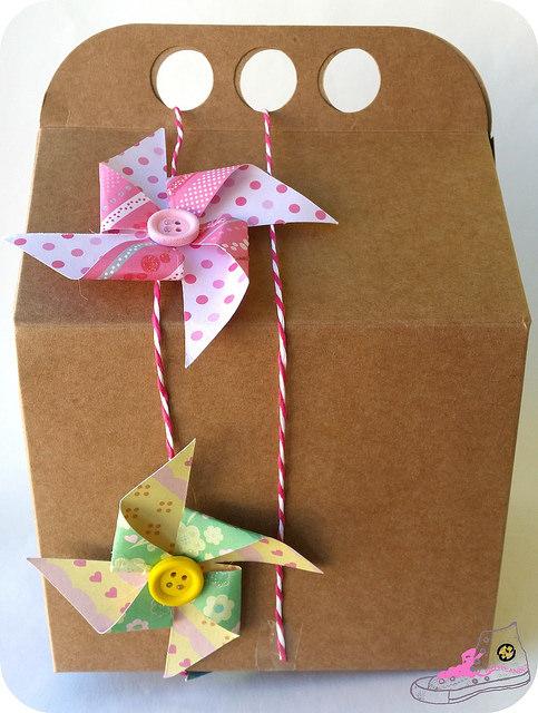 caja decorada para regalar en boda