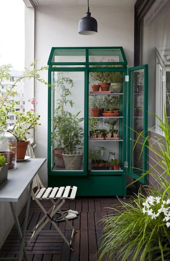Mini invernadero exterior para una zona verde