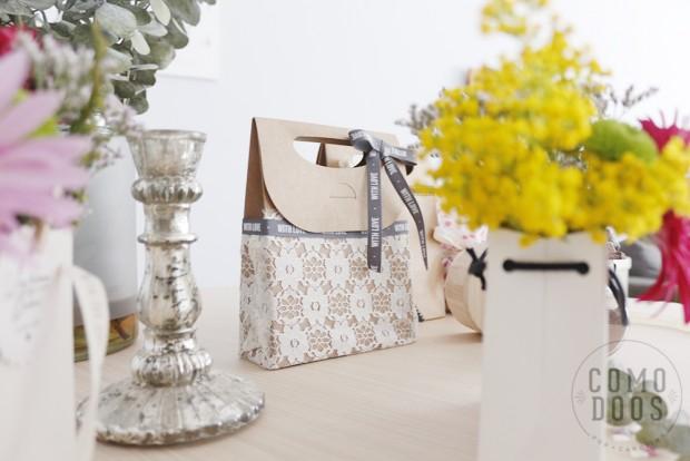 Bolsas craft para bodas
