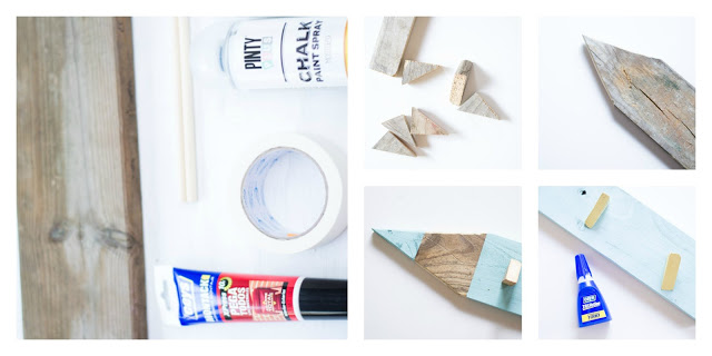 Perchero infantil lápiz diy
