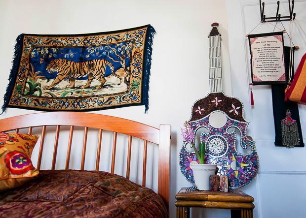 Detalles del apartamento bohemio de Dina