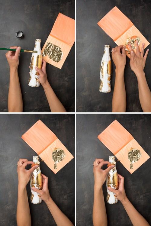 DIY Macetas con pan de oro - paso a paso