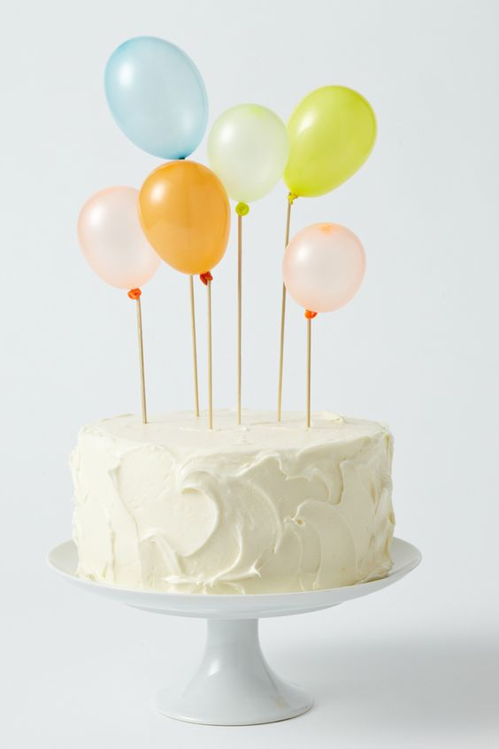 Cake topper mini globos