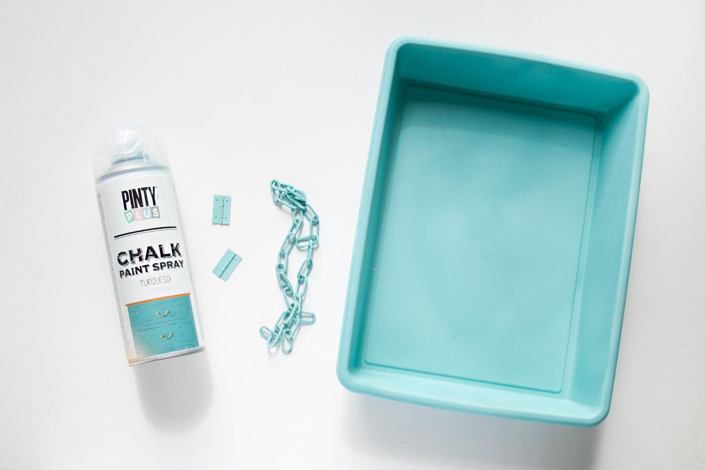 chalk en spray turquesa