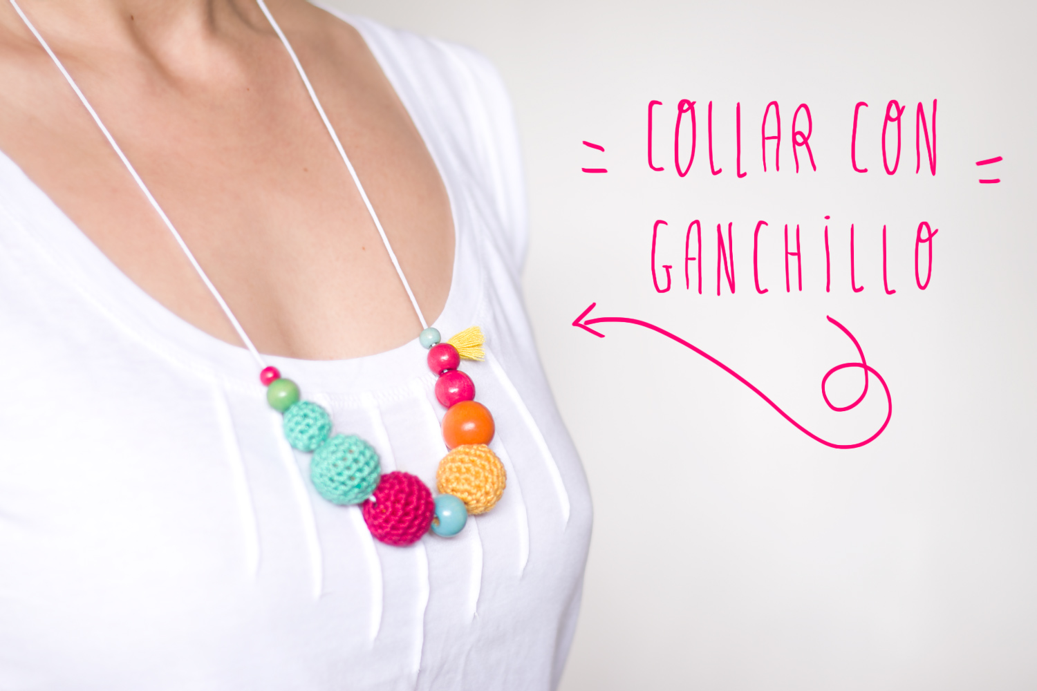 Collar de bolas con ganchillo - Handbox Craft Lovers | Comunidad DIY ...
