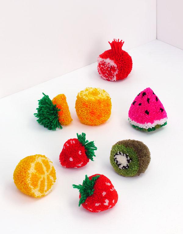 frutas-pompones-diy