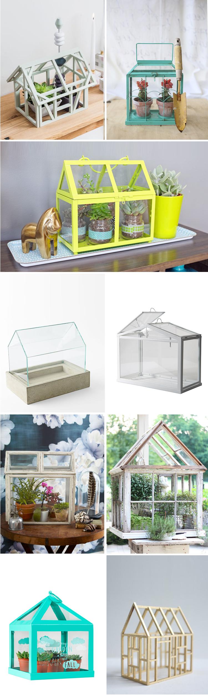 inspiración mini invernaderos