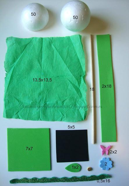 Materiales para hacer arbol de goma eva