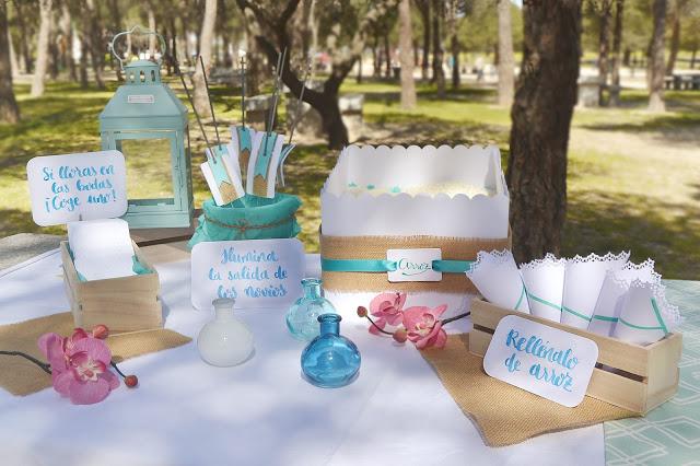 Mesa arroz lágrimas felicidad boda