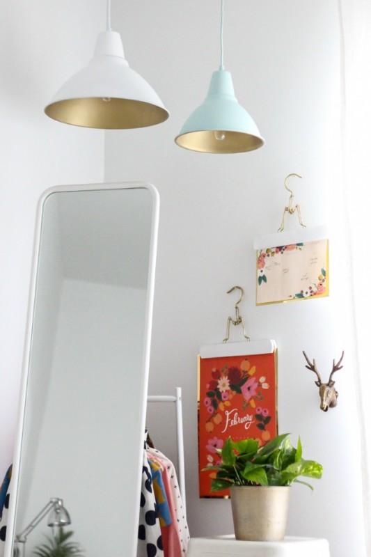 DIY Lámparas en oro