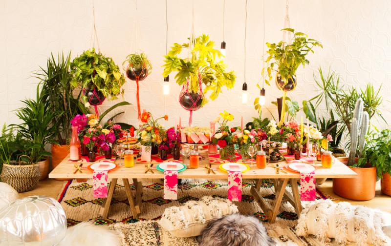 Inspiración decoración fiesta de estilo bohemio