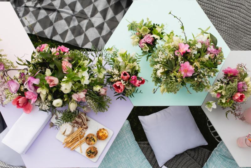 Detalle decoración floral para una fiesta