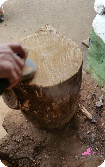 lijando tronco con radial