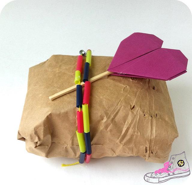 regalo del dia de la madre, packaging con pajitas