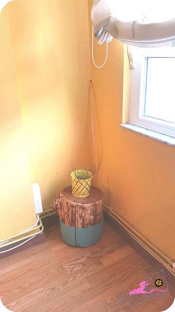 decorando con troncos
