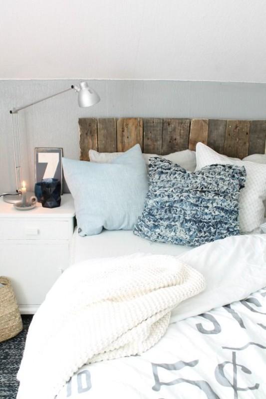 Renovar un dormitorio con presupuesto mini - cabecero con palets de madera