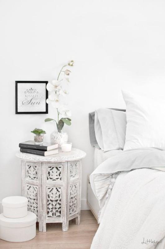 Renovar un dormitorio con presupuesto mini - mueble auxiliar de estilo étnico