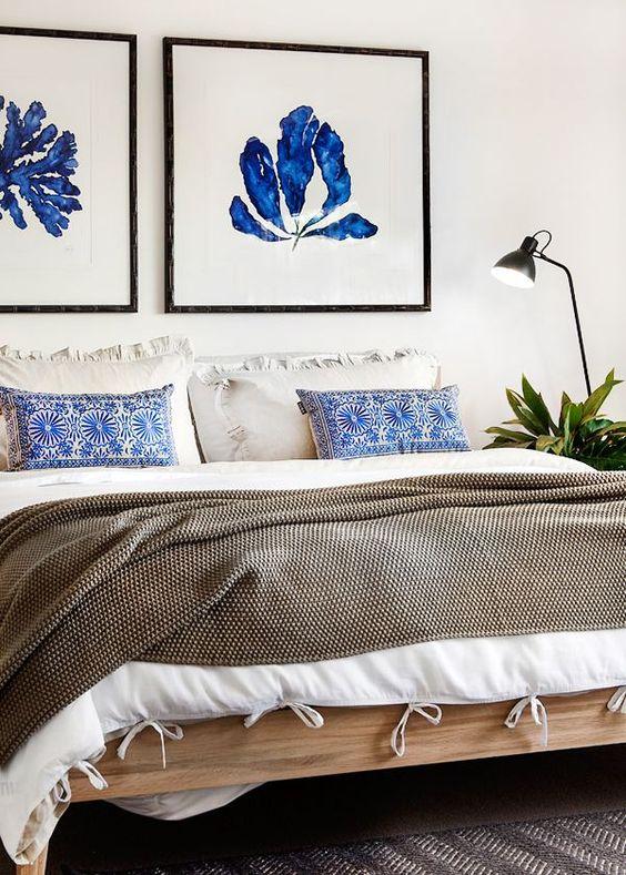 Renovar un dormitorio con presupuesto mini - cuadros en la pared