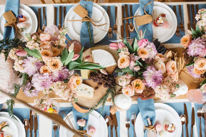 Detalle decoración mesa para una fiesta