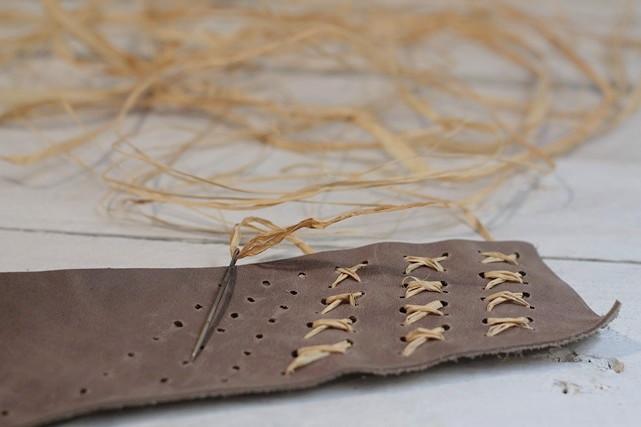 bordar con rafia florero orgánico missoluciones-pángala