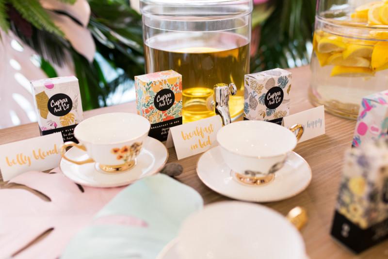Detalles bebidas para una fiesta del té