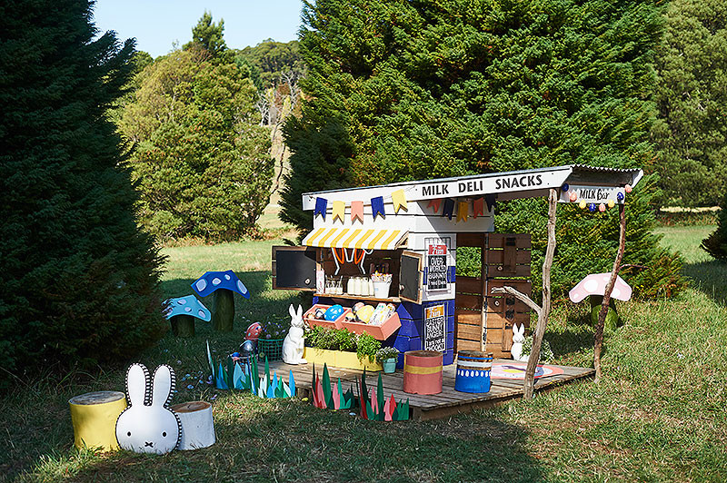 Espacio para juegos infantiles en una fiesta de exterior