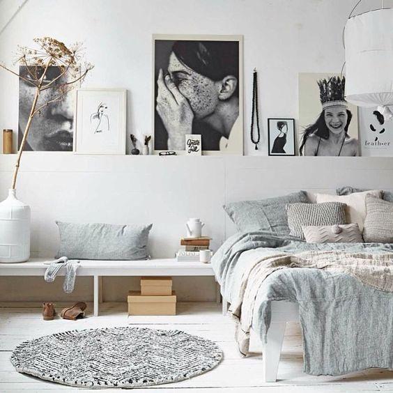 Renovar un dormitorio con presupuesto mini - fotografías en la pared