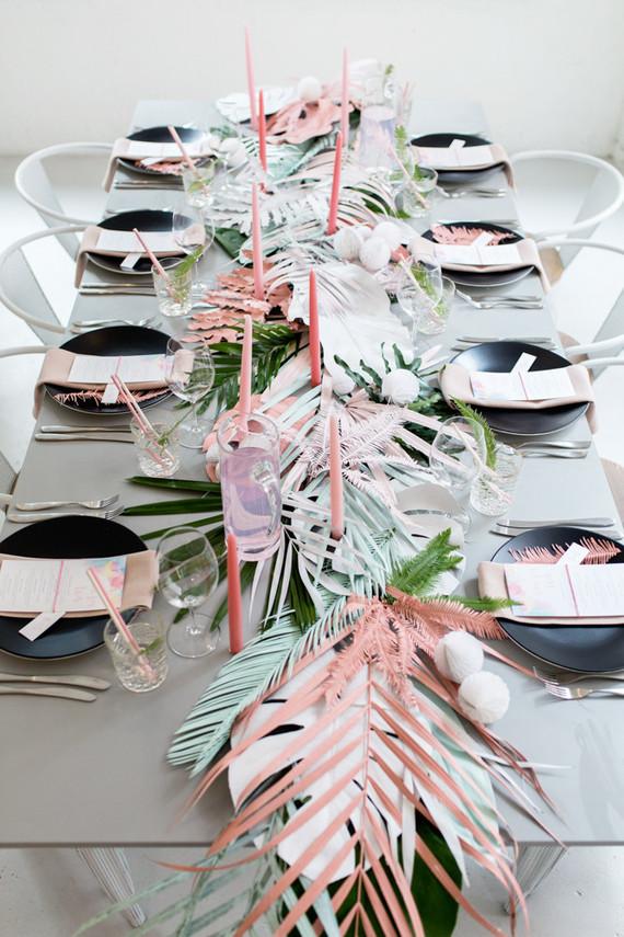 decorar Mesa tropical