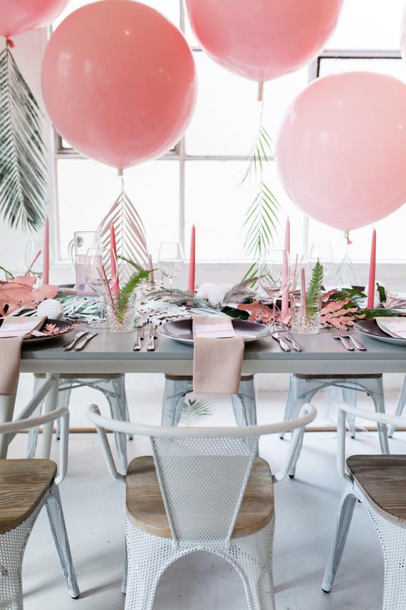 decorar mesa en rosa