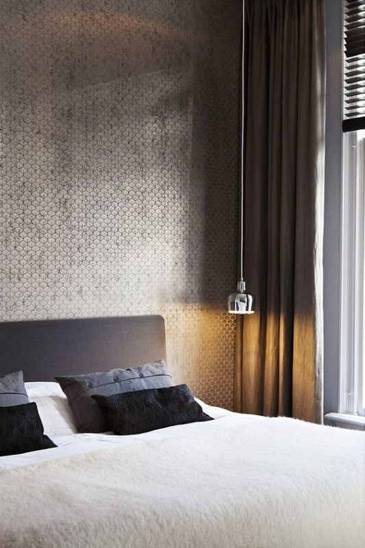 Renovar un dormitorio con presupuesto mini - papel pintado