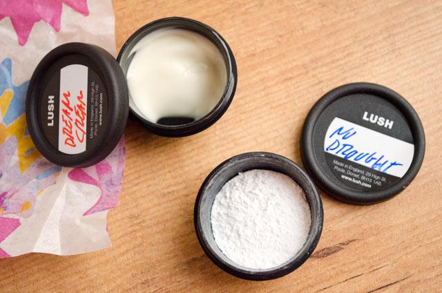 Dream Cream y champú en polvo No Drought