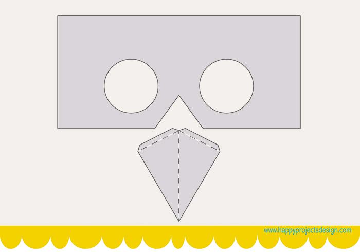 máscaras diy: plantilla