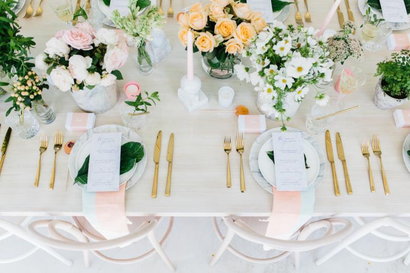 Detalles decoración mesa para una fiesta