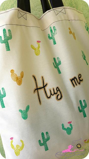 tote bag diy cactus