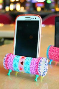 DIY: Soporte para telefono con rollo de carton