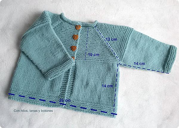 Con hilos, lanas y botones: DIY cómo hacer una chaqueta de punto para bebé