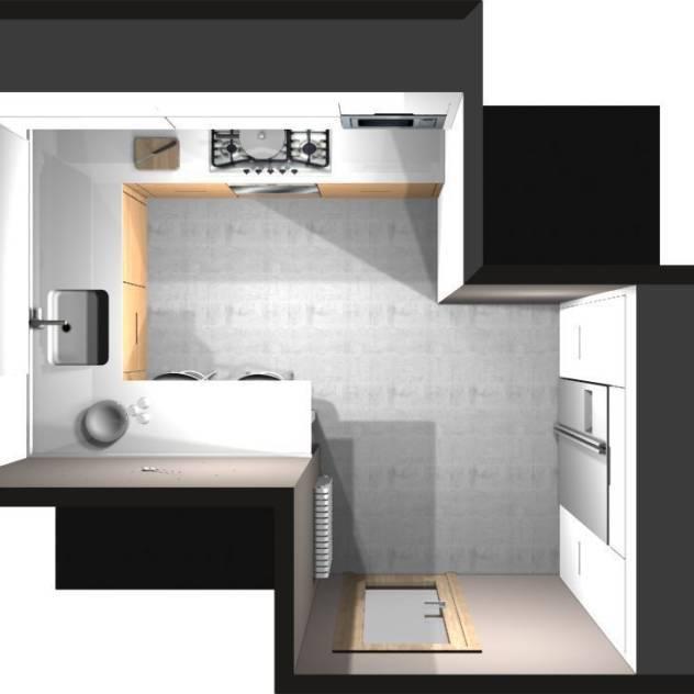 DISEÑO 3D – VISTA PÁJARO : Cocinas de estilo moderno de COCINAS SANTOS