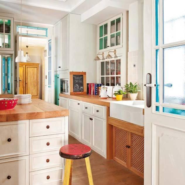 Reforma integral de vivienda : Cocinas de estilo ecléctico de Simetrika